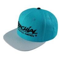 "Brachial Snapback Cap ""Rule"" light blue/white"