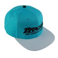 "Brachial Snapback Cap ""Rule"" hellblau/weiss"