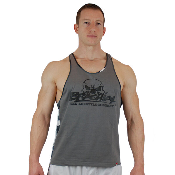 Brachial Tank-Top Chest grau