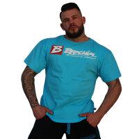 """Brachial T-Shirt """"Sign Next"""" light blue S"""