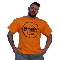 """Brachial T-Shirt """"Style"""" orange M"""
