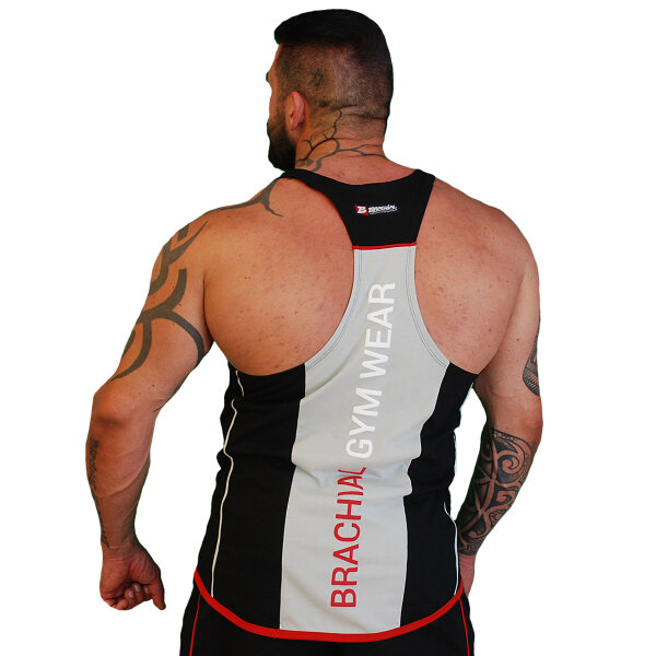 Brachial Tank-Top Fresh black/grey
