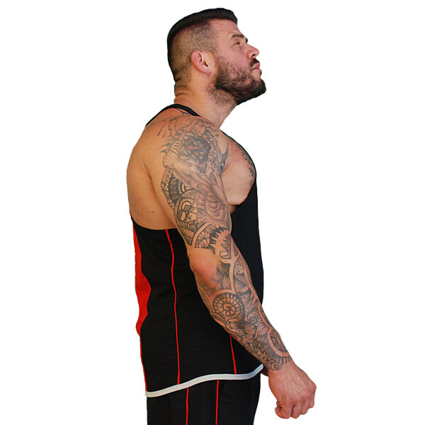 Brachial Tank-Top Fresh black/red