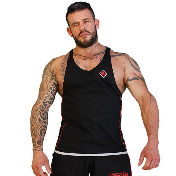 """Brachial Tank-Top """"Fresh"""" black/red XL"""