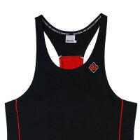 """Brachial Tank-Top """"Fresh"""" black/red 2XL"""