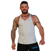 "Brachial Tank-Top ""Fresh"" grey/blue"