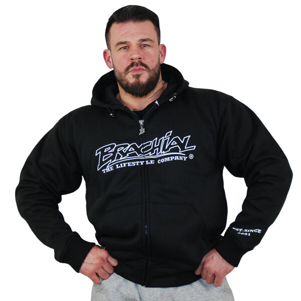 Brachial Zip-Hoody Gain black