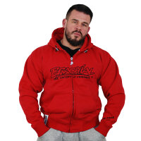 "Brachial Zip-Hoody ""Gain"" red"