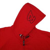 "Brachial Zip-Hoody ""Gain"" red L"