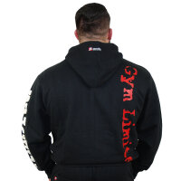 "Brachial Zip-Hoody ""Gym"" black/white S"