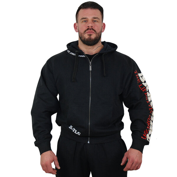 "Brachial Zip-Hoody ""Gym"" black/white L"