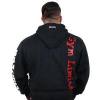 """Brachial Zip-Hoody """"Gym"""" schwarz/weiss XL"""