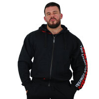 Brachial Zip-Hoody Gym black/red