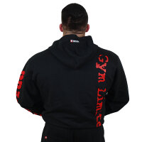"Brachial Zip-Hoody ""Gym"" black/red"