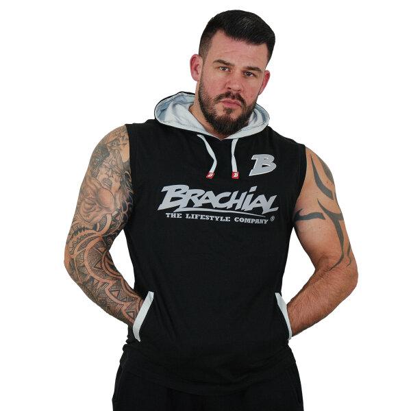 """Brachial Tank-Top """"Boxer"""" schwarz/grau S"""
