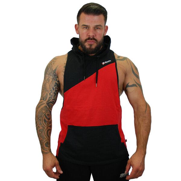 """Brachial Tank-Top """"Task"""" black/red 2XL"""