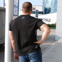 "Brachial T-Shirt ""Gain"" schwarz/weiss M"
