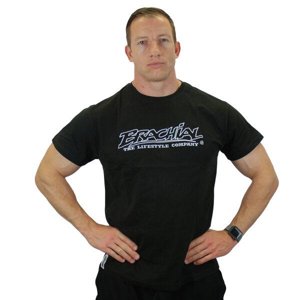 "Brachial T-Shirt ""Gain"" schwarz/weiss 2XL"