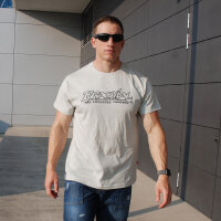 "Brachial T-Shirt ""Gain"" light grey/black"