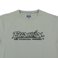 "Brachial T-Shirt ""Gain"" light grey/black S"