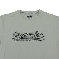 "Brachial T-Shirt ""Gain"" hellgrau/schwarz M"