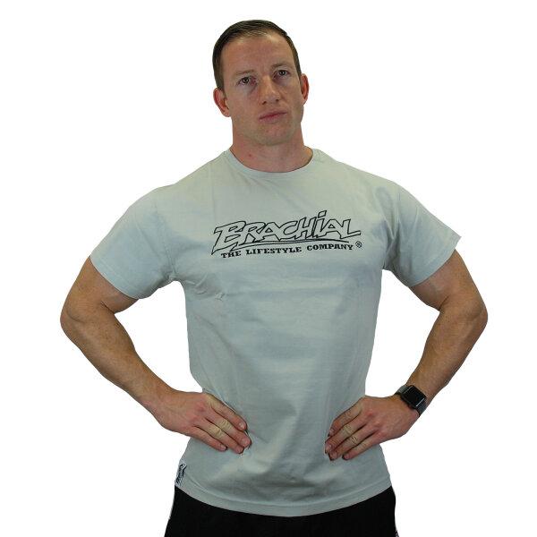 "Brachial T-Shirt ""Gain"" hellgrau/schwarz XL"