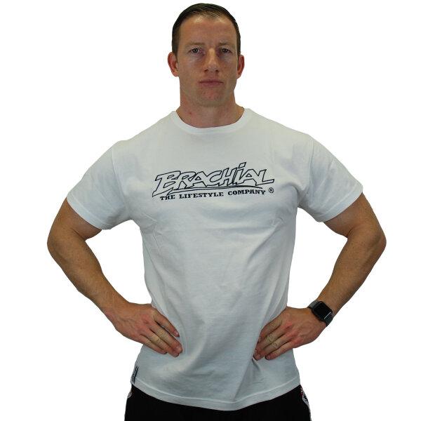 "Brachial T-Shirt ""Gain"" weiss/schwarz 2XL"