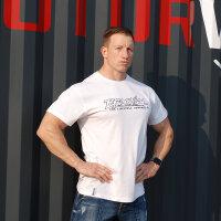 "Brachial T-Shirt ""Gain"" white/black 4XL"