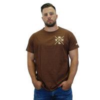 """Brachial T-Shirt """"Beach"""" brown 4XL"""