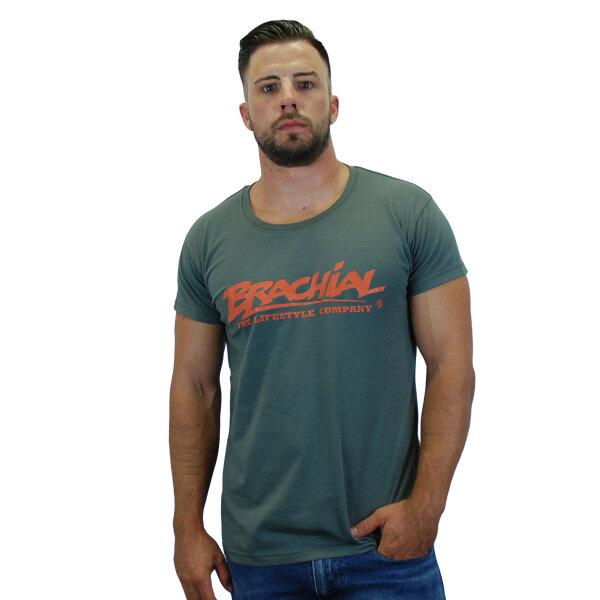 """Brachial T-Shirt """"Sign"""" darkgrey/orange L"""