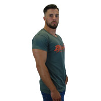 "Brachial T-Shirt ""Sign"" dunkelgrau/orange 3XL"