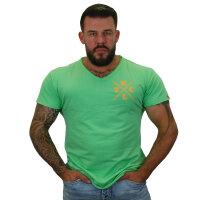 """Brachial T-Shirt """"Move"""" mintgrün/orange L"""