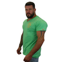 """Brachial T-Shirt """"Move"""" mintgrün/orange XL"""