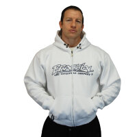 "Brachial Zip-Hoody ""Gain"" white"