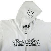 "Brachial Zip-Hoody ""Gain"" white 3XL"