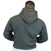 "Brachial Zip-Hoody ""Spacy"" graphit melounge/schwarz M"