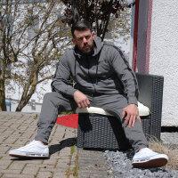 """Brachial Jogginhose """"Classy"""" grau/schwarz 4XL"""